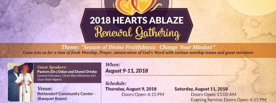 Hearts Ablaze Renewal Conference 2018